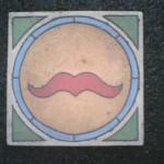 """Mustache 7"""" square"""