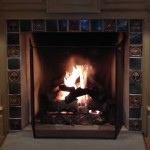 Moravian Tile Fireplace Surround